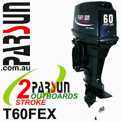 60HP OUTBOARD 2-stroke Extra Long Shaft PARSUN. 2yr FACTORY WARRANTY. Brand New
