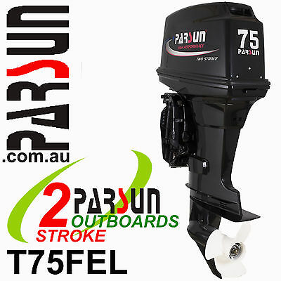 75HP OUTBOARD 2-stroke Long Shaft PARSUN.   2yr FULL FACTORY WARRANTY.  Motor