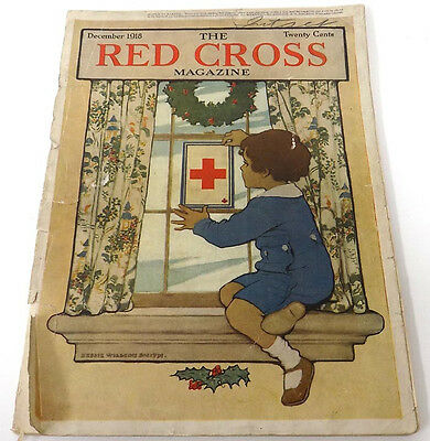 WWI 1918 US Red Cross Magazine  France, Russia, Palestine Color Graphics