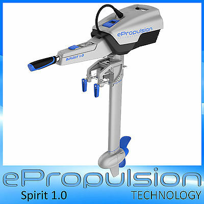 ePropulsion Spirit 1.0 Electric Outboard ✱Built in Battery 1hr Run✱ 1000w = 3HP