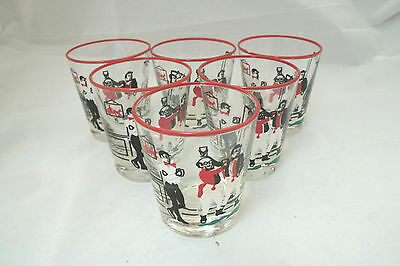 """Libbey Rock Sharpe PICKWICK 6-3 3/8"""" Old Fashioned Drinking Glasses Tumblers EUC"""