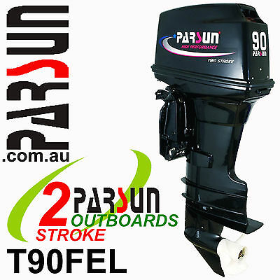 90HP PARSUN Outboard 2-stroke Long Shaft.   2yr FULL FACTORY WARRANTY. Brand New