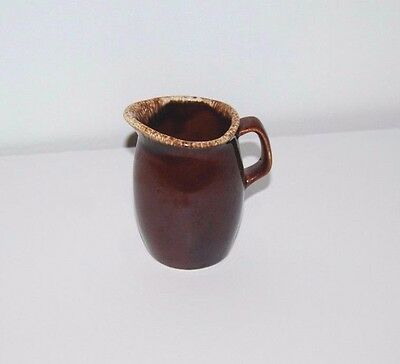 Pitcher Hull Pottery Brown Oven Proof USA Small