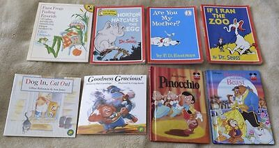 Mixed Lot of 8 Children's Picture Books - Dr Seuss, Disney etc