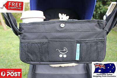 Baby Pram Stroller Organiser Caddy Bottle Cup Holder Storage Universal Buggy
