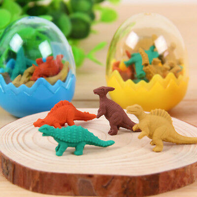 Mini Dinosaur Egg Pencil Rubber Eraser Kid Students Office Stationery Gift Toy
