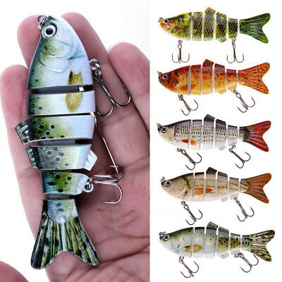6 Segment Swimbait Lures Fishing Bait Fish Lure Crankbait Hooks 11cm KOYOT SP