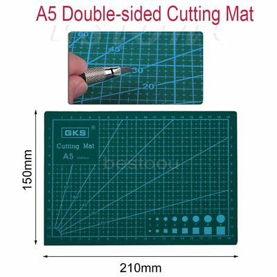 A5 PVC Self Healing Cutting Mat Craft Quilting Grid Lines Printed Board IB