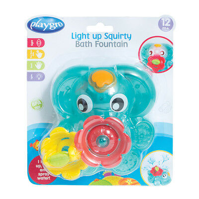 Playgro Lightup Squirtee Bath Fountain - NEW