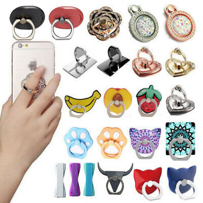 360° Finger Grip Metal Ring Stand Holder For Mobile Phone Tablet iPhone Samsung