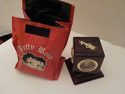 Betty Boop Handmade Wood Clock Thermometer and Insulated Bag Howard Miller A