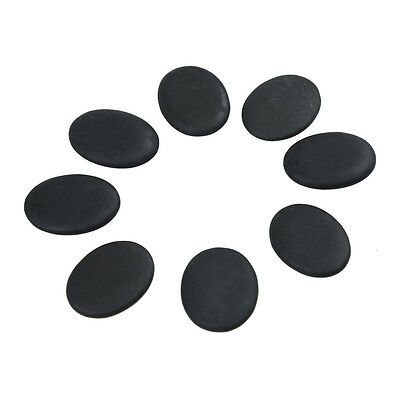 8 Pcs Massage Stones Natural Lava Basalt Warmer Hot Stone for Spa 1.18 x 1.57 in