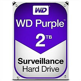 "Western Digital Hard Drive WD20PURZ WD Purple AV 3.5"" 2TB 64MB SATA 6Gb/s Bulk"