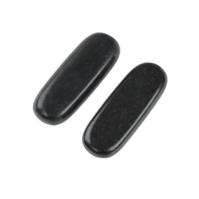 2 Pcs Large Massage Stones Natural Lava Basalt Hot Stone for Spa 1.18 x 2.36 in