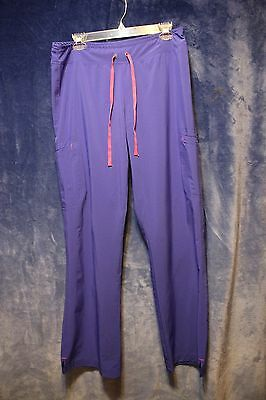 ⚜Woman's Solid Work Scrub pant by Smitten size M~Purple