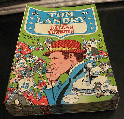 Warehouse Find! TOM LANDRY & DALLAS COWBOYS Comic, Spire/1973 VF+ Crisp/Unread!