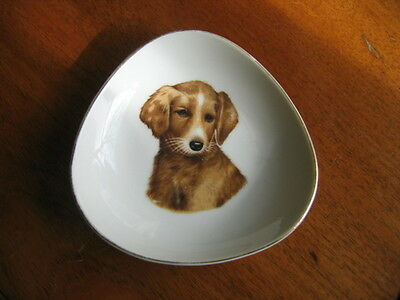 Vintage Decorative Small Dog Dish Made In Japan