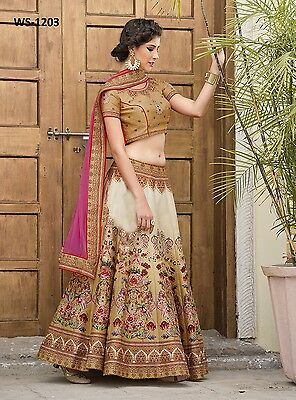 Designer Party Wear Indian Wedding Bridal Bollywood New Lehenga Choli Saree Sari