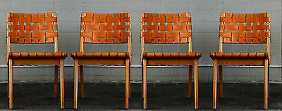 4 Early Jens Risom side chairs 666 for Knoll Associates