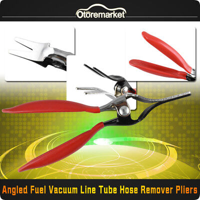 Auto Car Angled Fuel Vacuum Line Tube Hose Remover Separator Pliers Pipe Tool