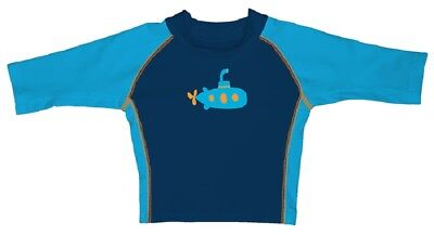 I Play Boys swimshirt dark blue/Turquoise UV Protection 50+ sz. 0-6, 24-36