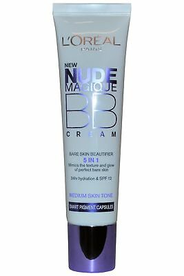 L'Oreal Nude Magique BB Cream 5 in 1 Bare Skin Beautifier 30ml Medium Skin Tone