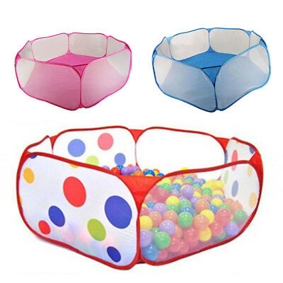 Children Folding Ocean Balls Pit Portable Outdoor  Fun Play Tent House Ball Pool