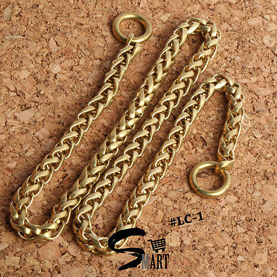 Top Quality Brass Gold Chain Curb Link Men Women Accessories Two Rings Ends 42cm