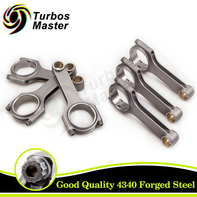 TB Forged Connecting Rods for MITSUBISHI 6G72 3000GT Conrod 141mm TUV Certif.