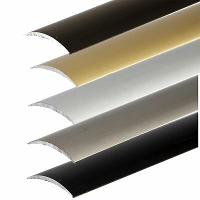 SELF-ADHESIVE ANODISED ALUMINIUM FLOOR EDGING BAR STRIP TRIM THRESHOLD 930x30mm