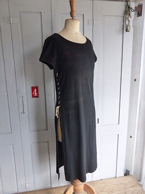 COP COPINE French black Bruine Robe dress size 38 UK 10