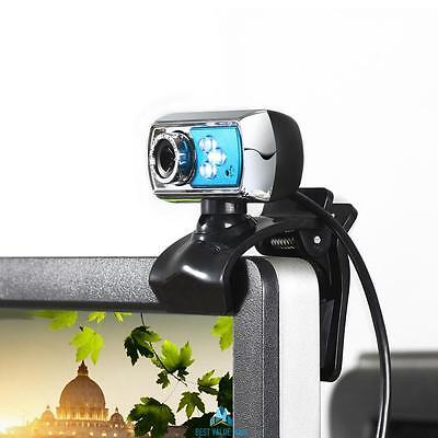 HD 12.0MP 3 LED USB Webcam Camera with Mic & Night Vision for PC Skype Computer