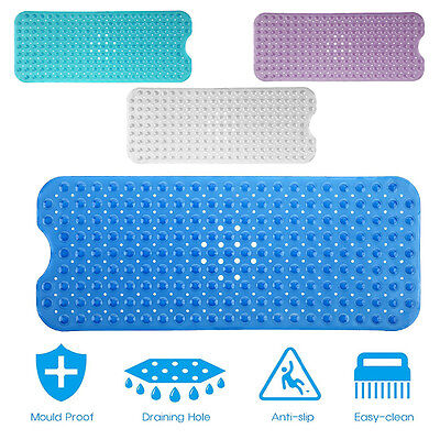 Extra Large Bath Tub Mat Anti Slip Long Non Skid Protection Safety Shower Pad CF