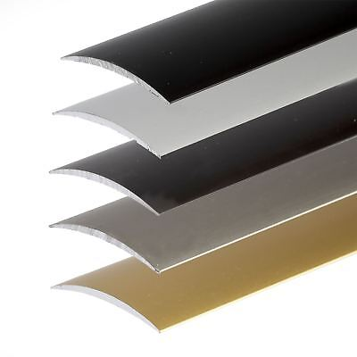 SELF-ADHESIVE ANODISED ALUMINIUM DOOR FLOOR BAR EDGE TRIM THRESHOLD  930mm x40mm
