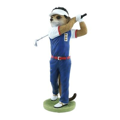 Golfer Nick Magnificent Meerkats Country Artists Figurine 25.5cm CA04526 RRP £44