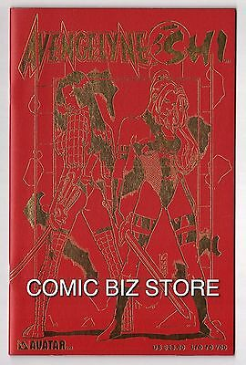 Avengelyn Shi Ltd 700 Red Leather And Gold Cover (2001) Avtar Comics