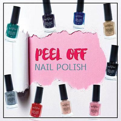 MoYou Nails Peel Off Nail Polish Set Of 3, 9 Colours To Choose From Varnish 11ML