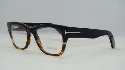 Tom Ford TF 5379 005 Black Unisex Glasses Frames Eyeglasses Size 51