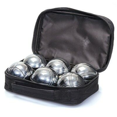 Metal Boules Set With Carry Case And Wooden Jacks