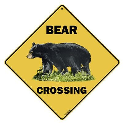 Bear Crossing Sign NEW 12x12 Metal