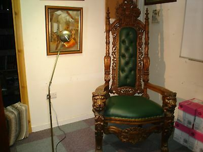 Huge throne chair gothic style Ex condition all offers considered