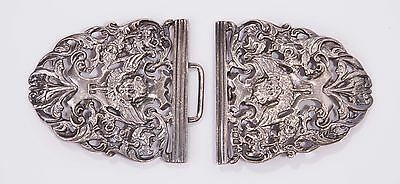 Antique Victorian Sterling Silver Buckle by J Rodgers 1898 Sheffield