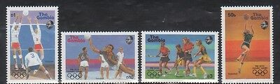Gambia 697-700 Summer Olympic Sports Mint NH