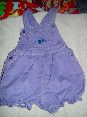 In Design Kids Size 24 Months Purple Overall Shorts
