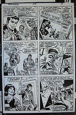 Original Production Art AMAZING SPIDER-MAN #129 pg 11, ROSS ANDRU art, Punisher