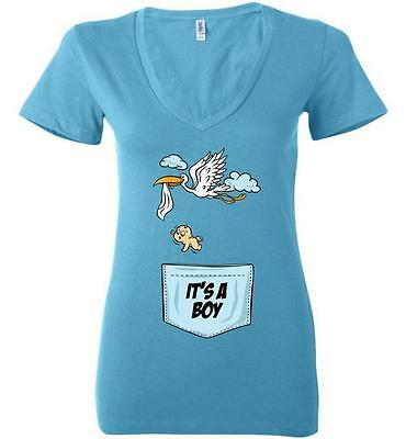 Maternity Baby Stork Shirt Funny Pregnancy Cute Announcement Pregnant T shirts