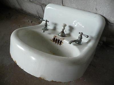 Antique Victorian Bathroom Lavatory Sink - Circa 1905 Architectural Salvage