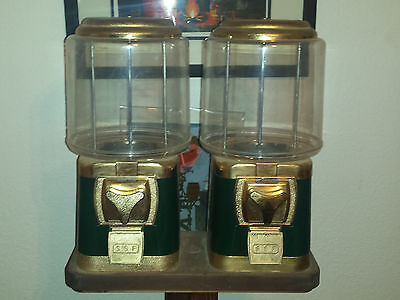 Reproduction Gumball Machine With Wooden Stand