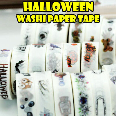 NEW 10m halloween washi paper tape handmade craft scrapbook gift wrap home decor