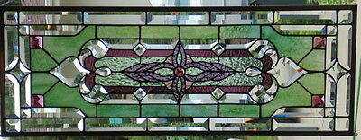 Stained Glass window hanging 34 3/4 X 12 3/4